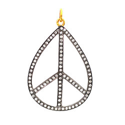 Peace Shaped Diamond Pendant