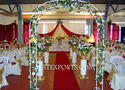 Wedding Wrought Iron Gate With Aisle Pillars