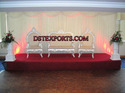 Asian Wedding Silver Stage Furniture