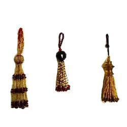Golden Beaded Tassels