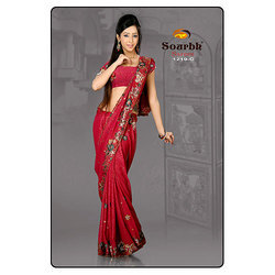Floral Bordered Saree