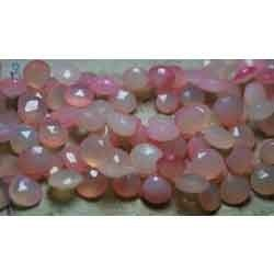 Fanta Shaded Chalcedony Faceted Heart Briolettes