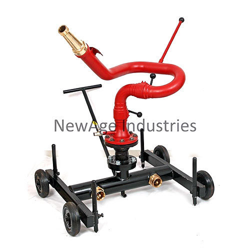 Industrial Fire Hose Accessories Trolley Mounted Monitor