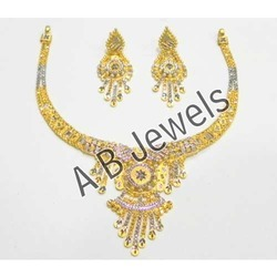 Rhodium Gold Necklace Set