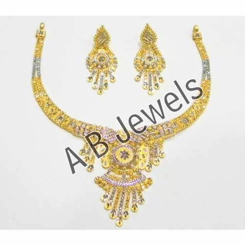 Gold Rhodium Necklace Manufacturer from New Delhi