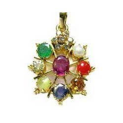 .3 Navgrah Gemstone Studded Fancy Pendents