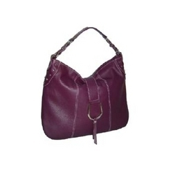 Purple Leather Simple Handbag