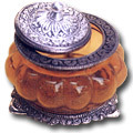 ashy alembic white metal jewelry box