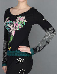 Mermaid Long Sleeve Lace Top