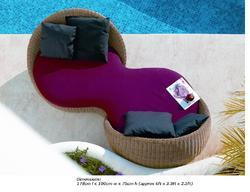 trendy wicker easy chair