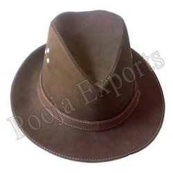 Brown Leather Hat ( Product Code: 1035-P400)