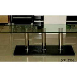 Center Table with Steel Base