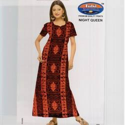 Womens Printed Cotton Gowns