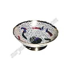 brass bowl with painting