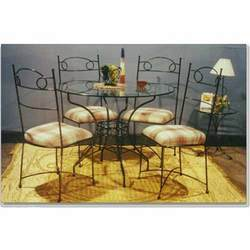 wrought+iron+Dining+Set