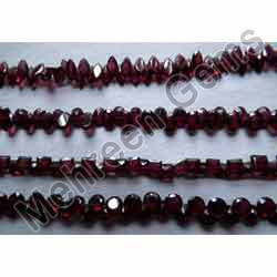 Red Garnet Oval And Round Beads
