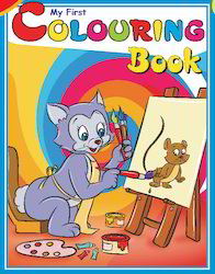 My First Coloring Book (Blue)