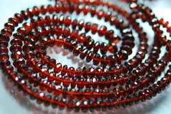 Red Garnet Faceted Rondelles Briolettes