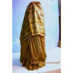Light Brown Madhubani Sarees