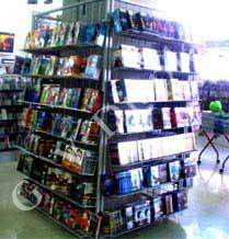 music shop display stands