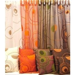 Curtains With Cushion Cover