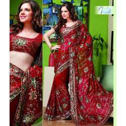 Printed Crystal Saree - 5023