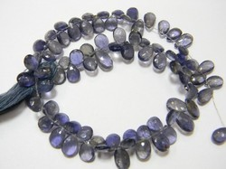 Iolite+Faceted+Pear+Briolettes