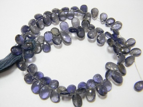 Iolite Faceted Pear Briolettes