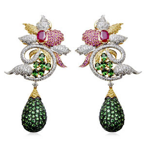 Emerald Costume Jewelry Earrings