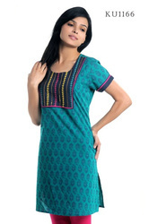 Beguiling Printed Embroidered Kurtis