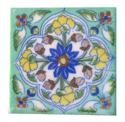 Vintage Blue Pottery Tile