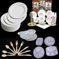 disposable plates bowls spoons forks plastic paper
