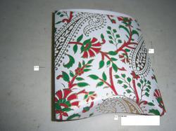 Handmade Paper Silk Screen Print Favor Boxes