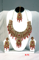 Ethnic Necklace Set With Heavy Work