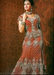 Net Embroidered Lehengas