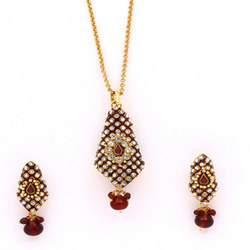 Antique Pendant Sets With White Stone