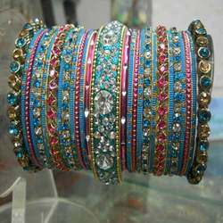 Blue Bangle Set