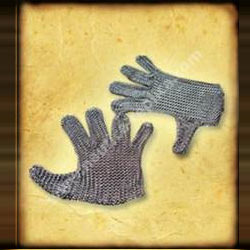 Chain Mail Gauntlets Butted