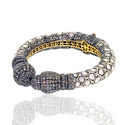 Diamond Vintage Gold Bangle Jewelry