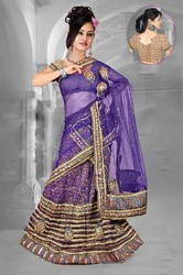 Chic Bluish Purple Lehenga Choli Item Code: IV43909