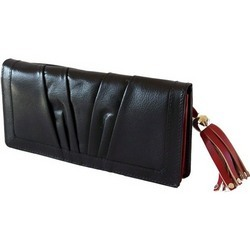 Black Leather Women Wallets