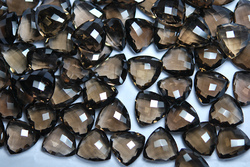 Smoky Quartz Faceted Trillion