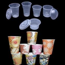 disposable glasses cups plastic paper