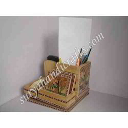 Wooden Gem Stone Painting Table Office Set