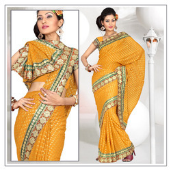 Enchanting Orange Viscose Saree With Blouse (204)