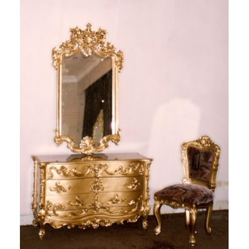 Oriental design dressing table brass wood designers - Dressing table latest design ...