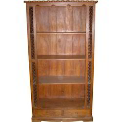 2 Drawer Bookcase With Iron Mesh