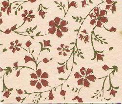 Block Printed Handmade Papers In Floral Patterns