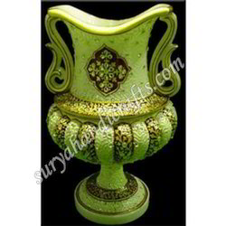 Marble Vases With Painting And Stone
