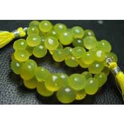 Mongo Chalcedony Faceted Onion Briolettes